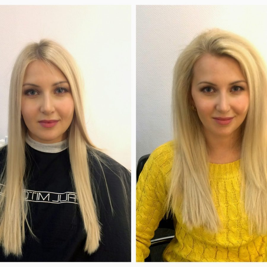Объем волос до и после