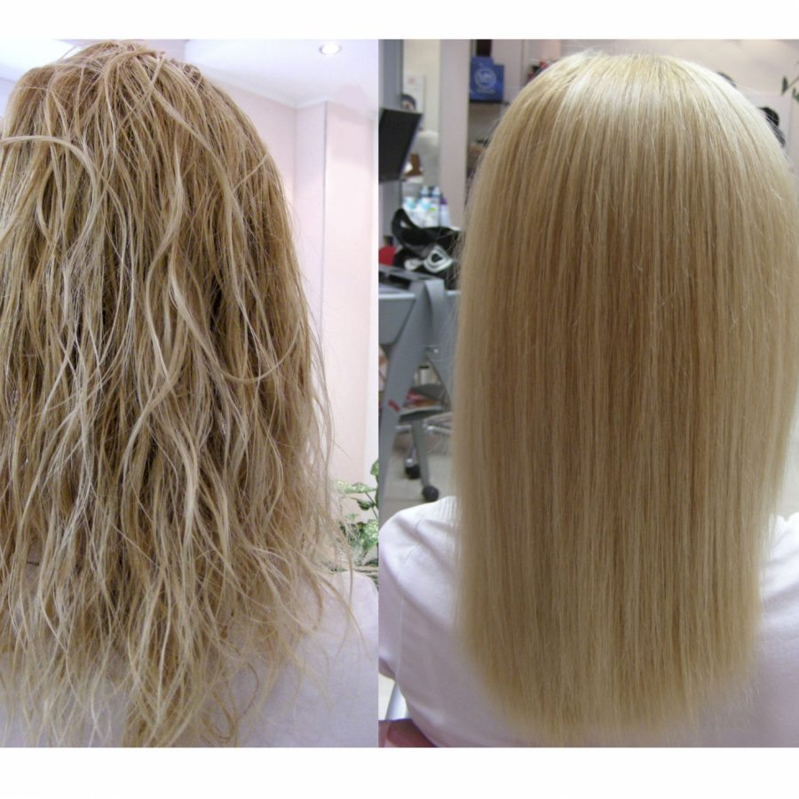 Перманентное выпрямление волос