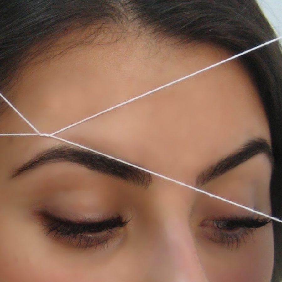 Удаление волос с помощью нитки