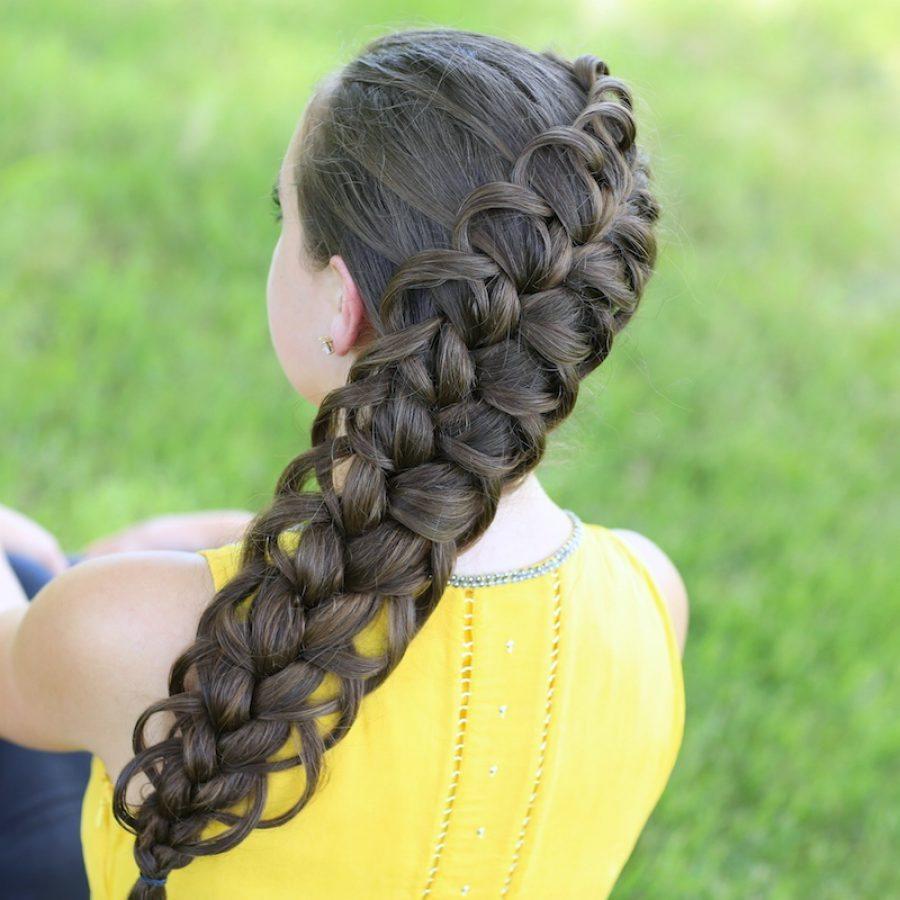 Плетение две французские косы