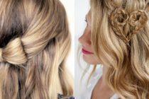 С распущенными волосами можно создавать разнообразные прически на каждый день