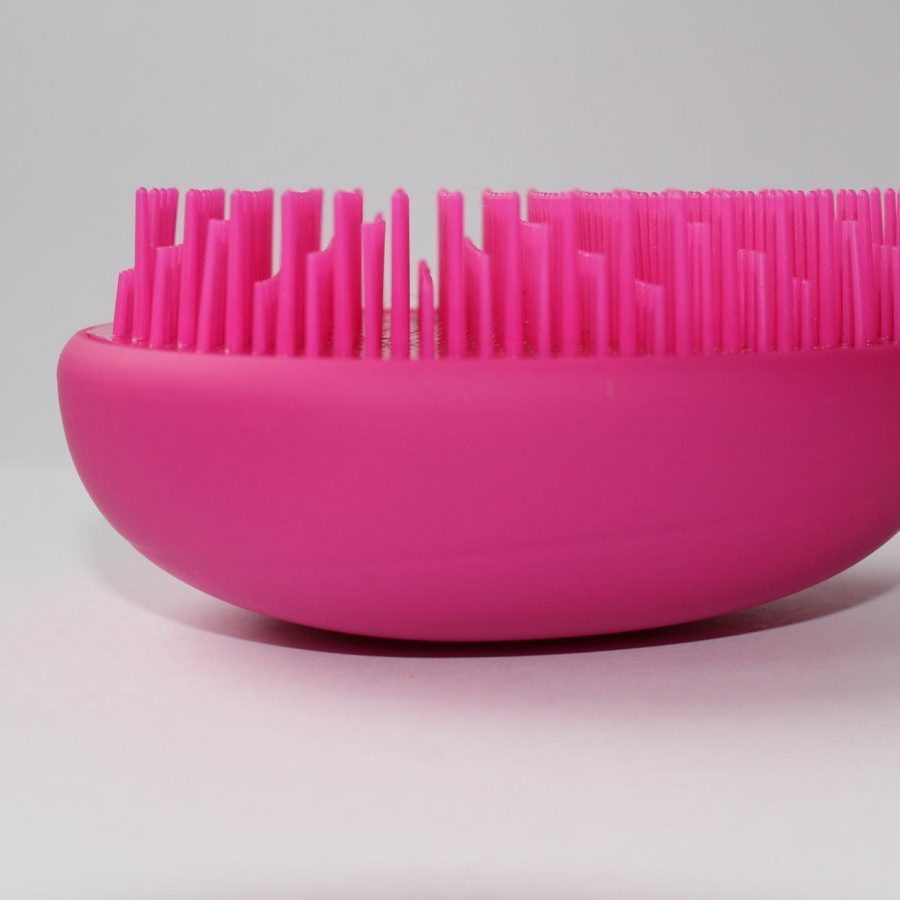 Pink Cosmetic Fan Brush Soft Synthetic Hair Make Up Tools
