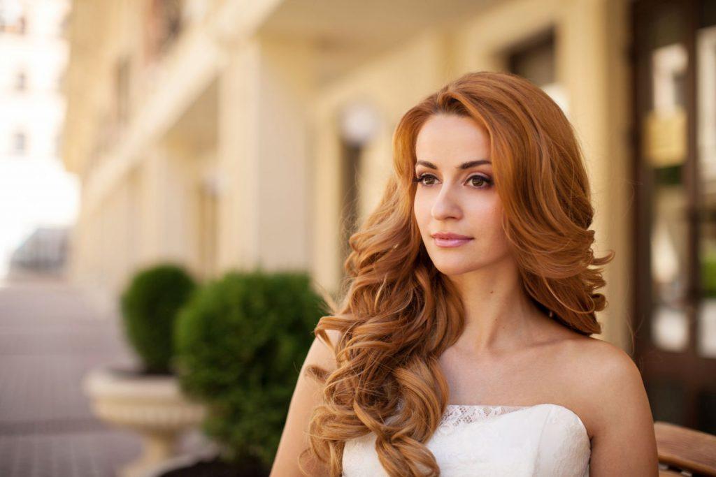 Укладка для длинных рыжих волос 101