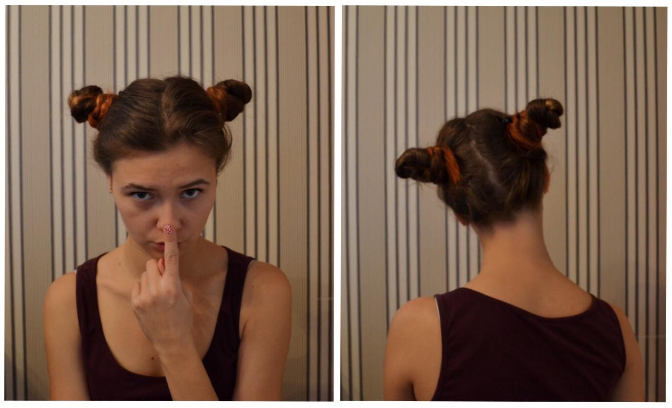 Как сделать два хвоста из волос