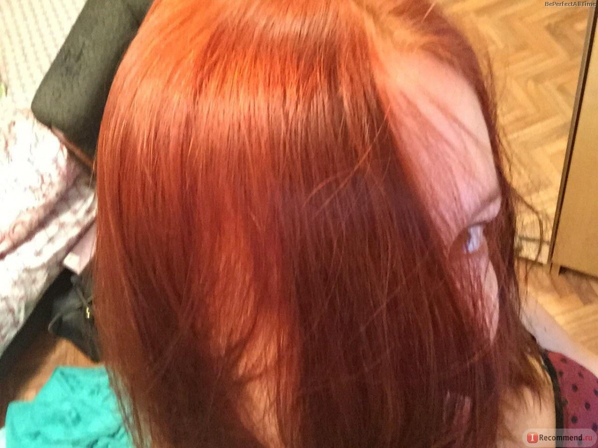 Хна красная на волосах с белой