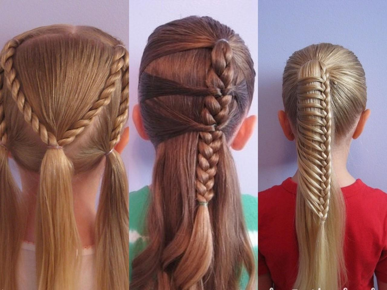 прически для детей с длинными волосами видео