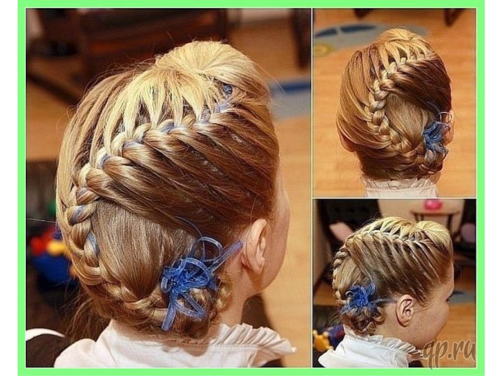 Плетение косичек для девочек на средние волосы