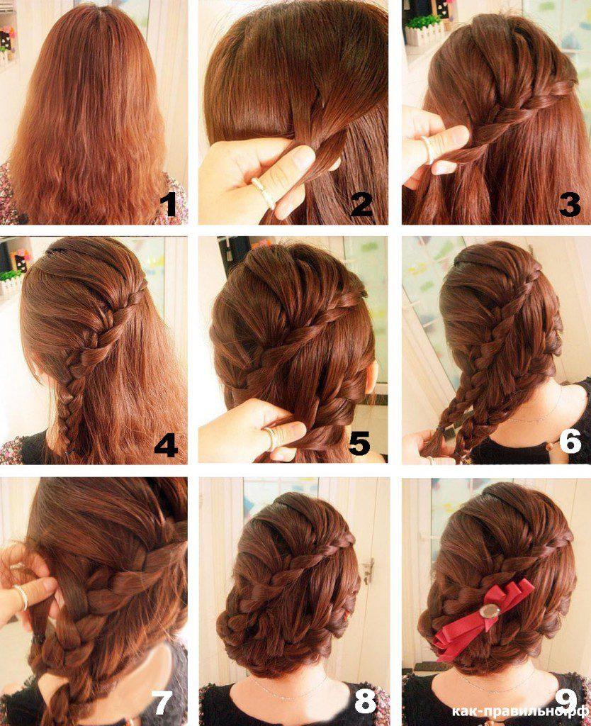 Плетение кос : идеи причесок, пошаговые фото и схемы плетения 18