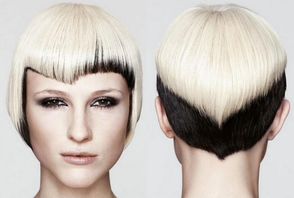 Окрашивание на мелированные волосы фото - 0e