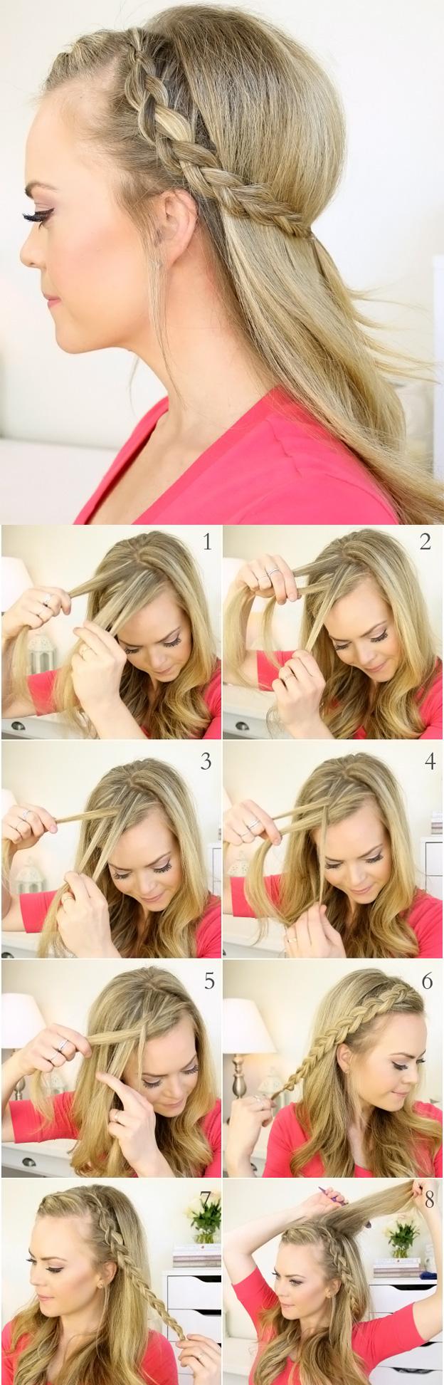 Прически для школы простые на длинные волосы фото