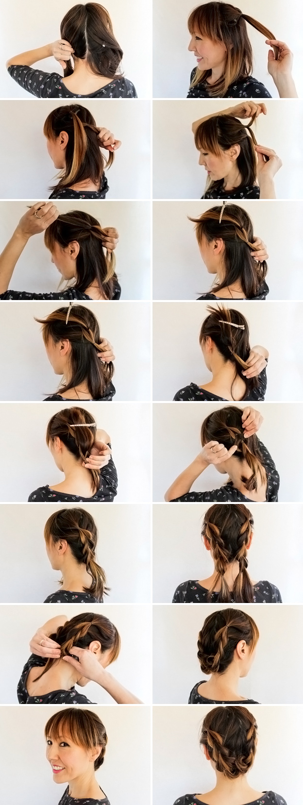 Как просто сделать прическу в домашних условиях на средние волосы
