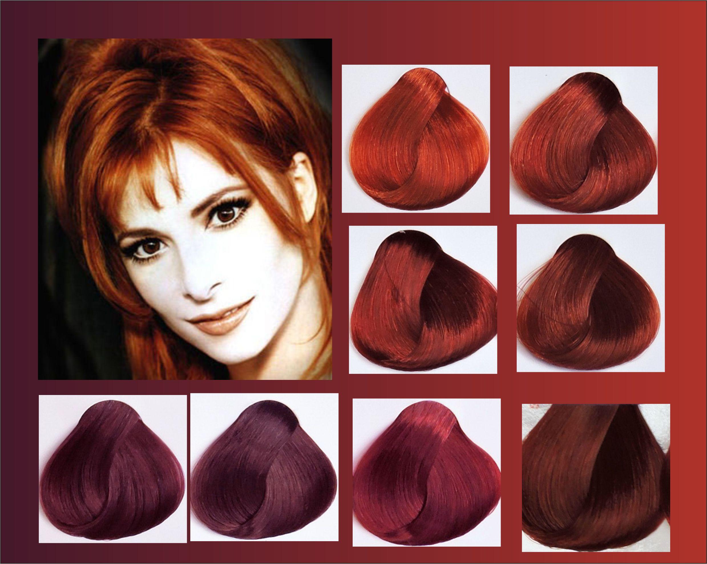 Темно красный цвет волос.