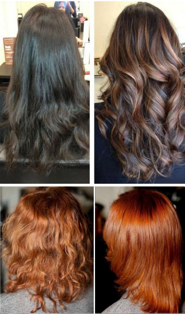 фото мелирование и тонирование на темные волосы