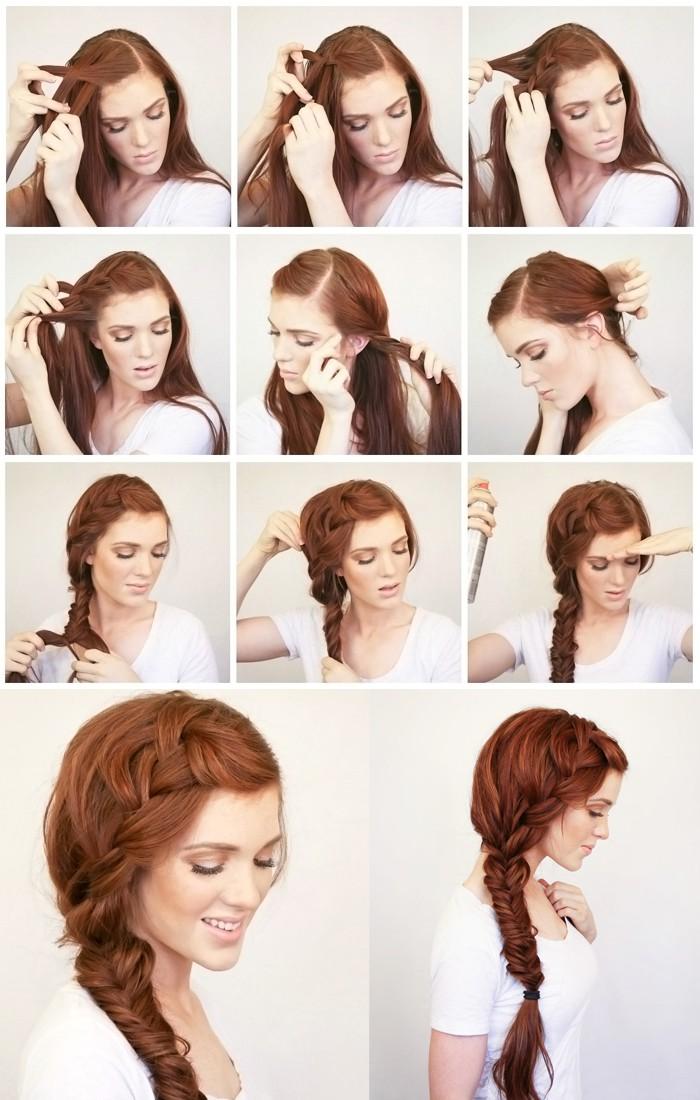 Прически на средние волосы на каждый день поэтапно