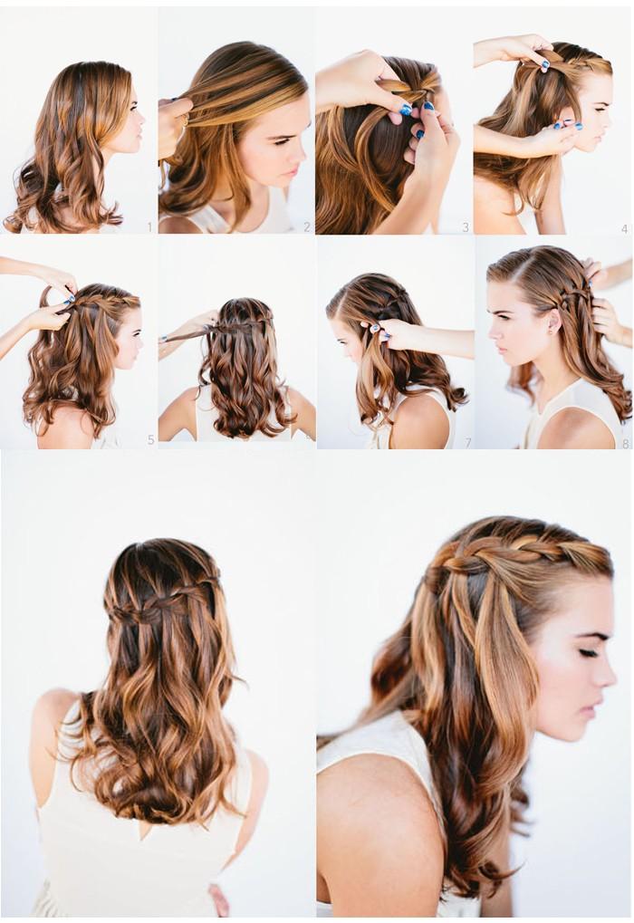 заплетение волос своими руками фото пошагово