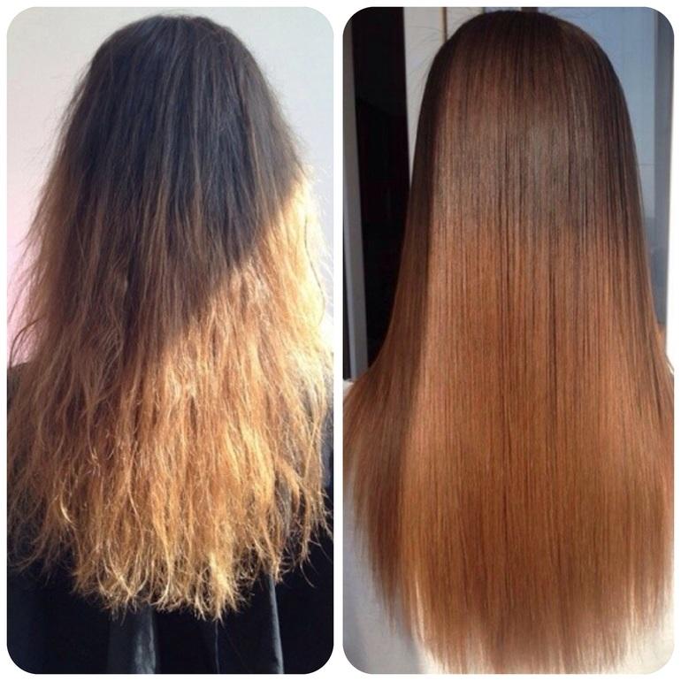 Ботокс выпрямляет волосы