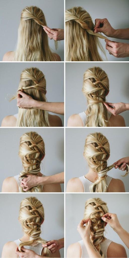 Плетение кос для девочек на длинные волосы пошагово