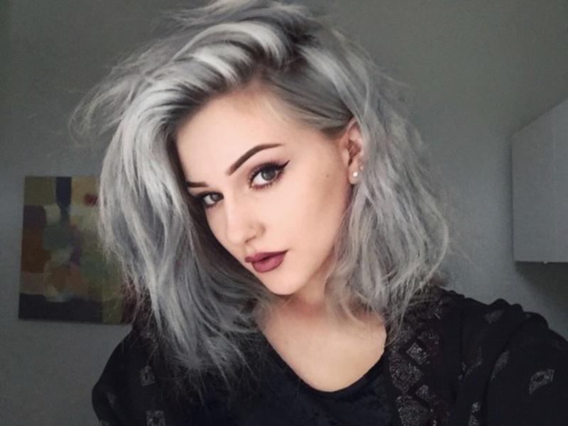 натуральный серый цвет волос фото