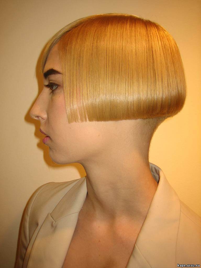 Womens shaved nape short haircuts