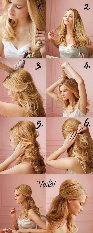 Укладка своими руками на средние волосы фото