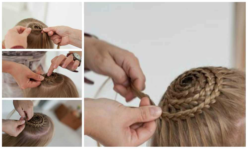 плетение прически улитка видео