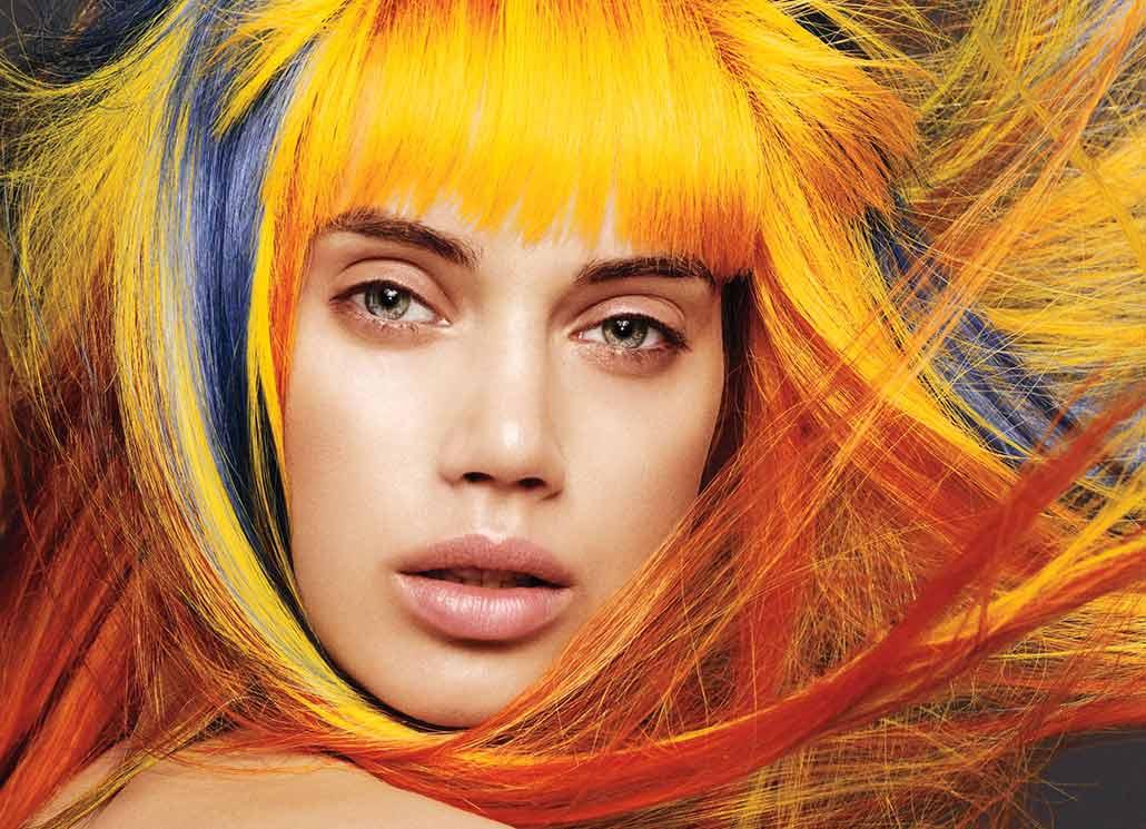 Цвет волос наполовину