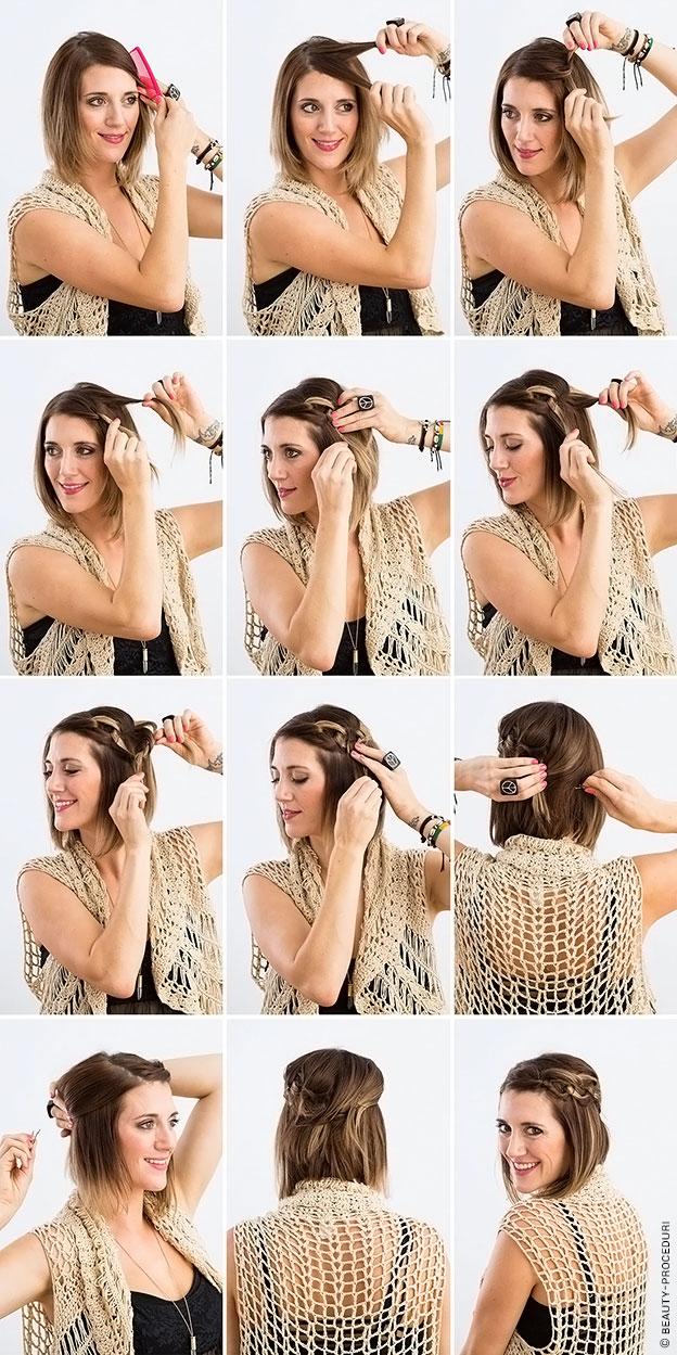 Делаем прически своими руками на короткие волосы фото