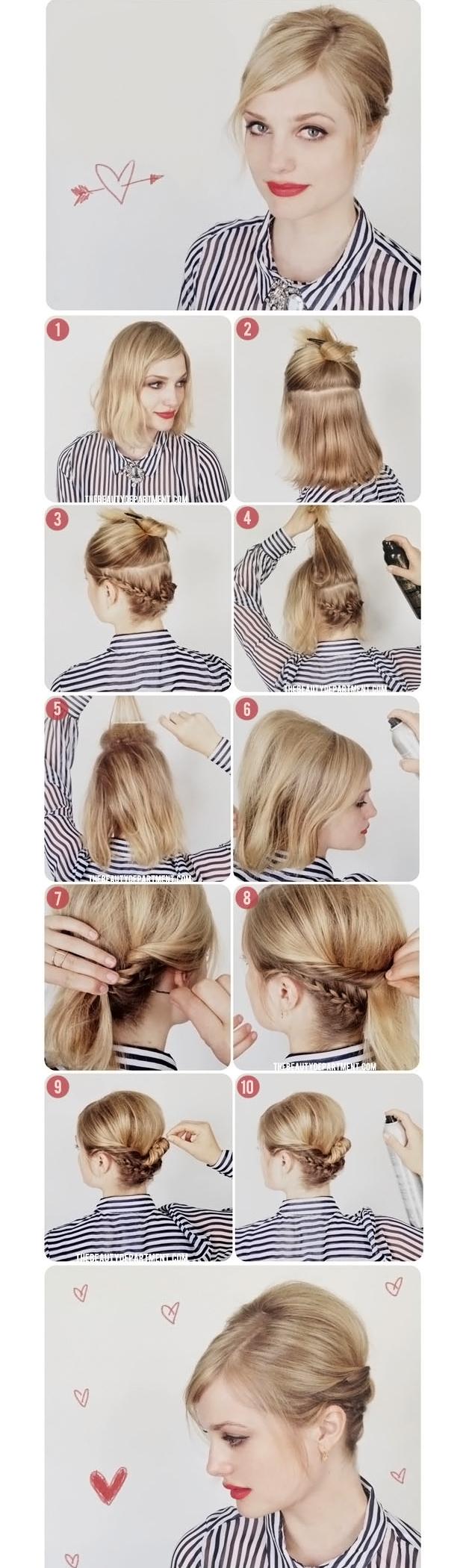 укладка волос каре в домашних условиях