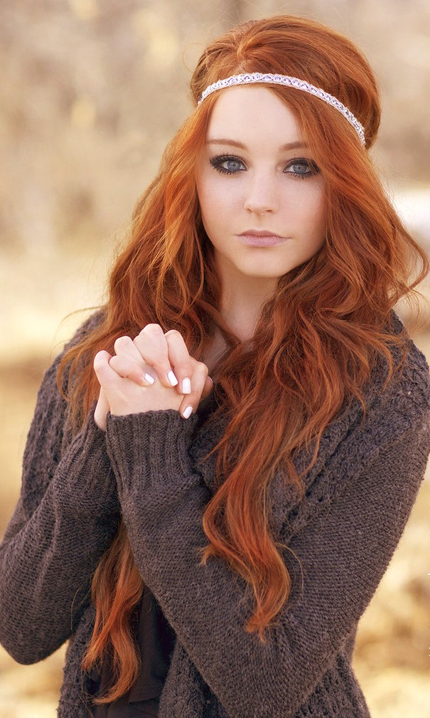 Осветлить рыжий цвет волос