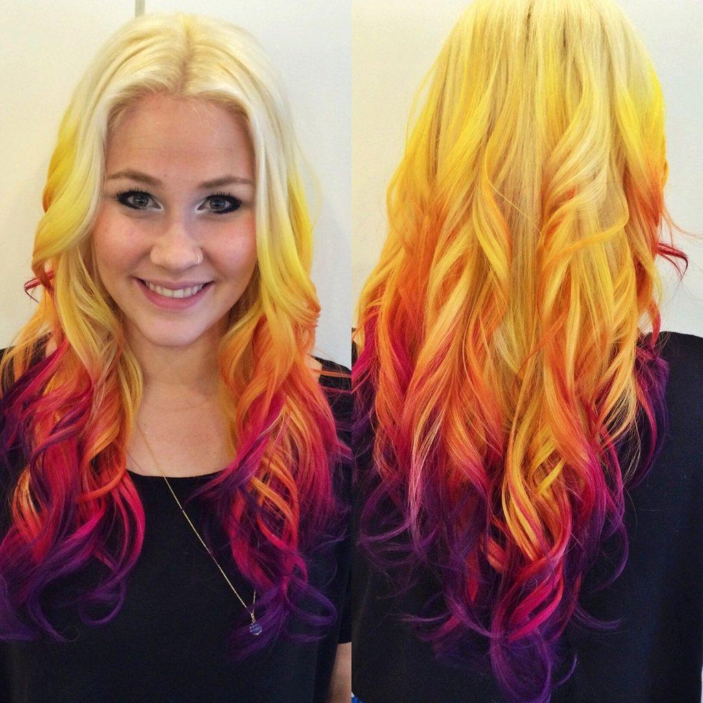 Полная девушка цвет волос