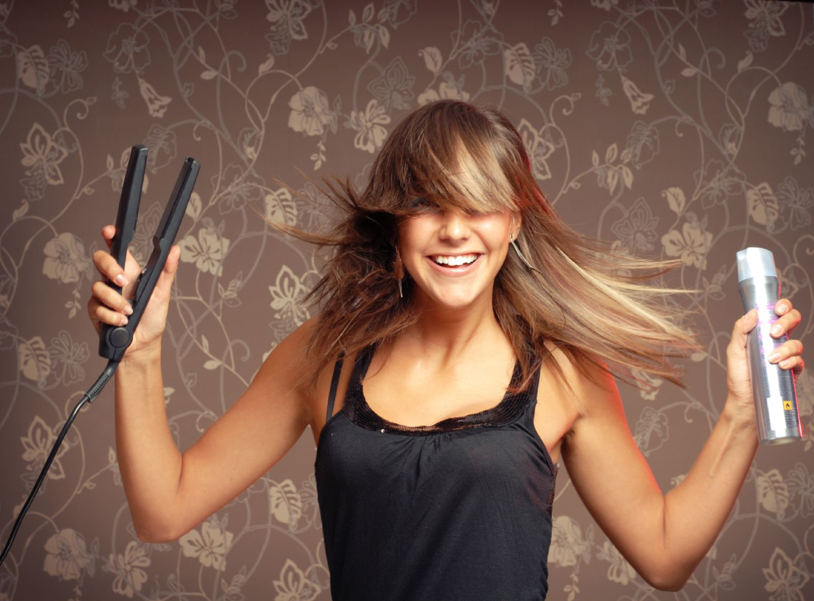 Утюжком для волос