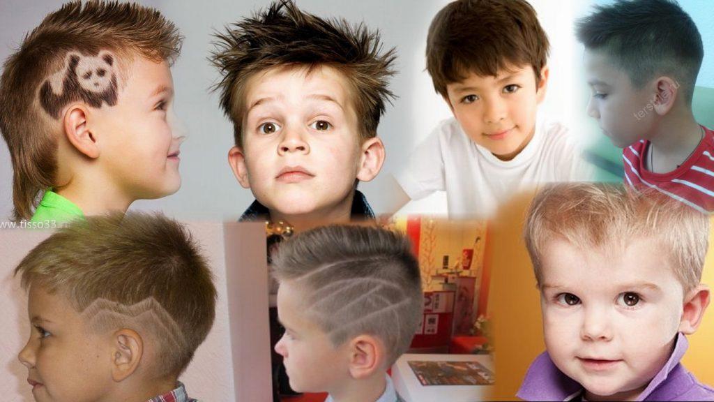 Детские мужские стрижки фото