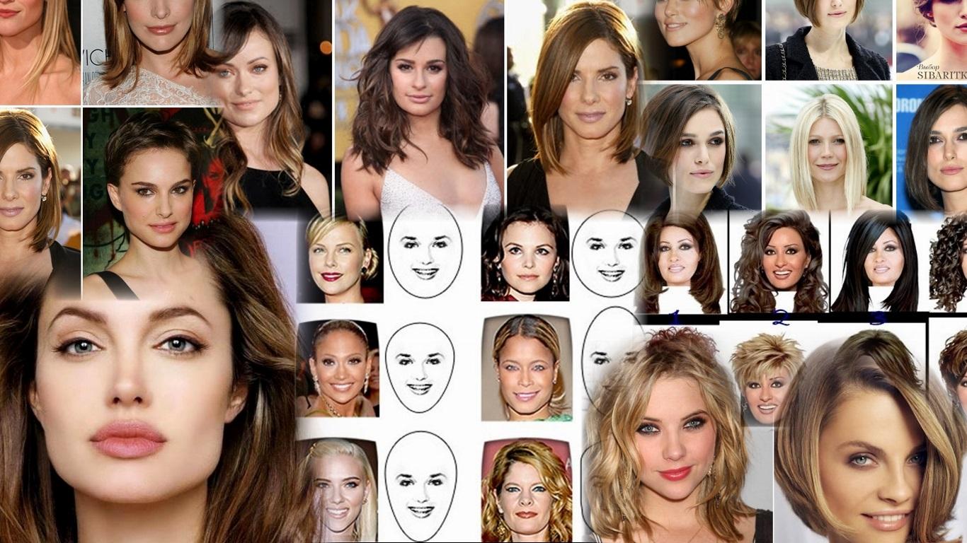Прически для всех типов лица фото