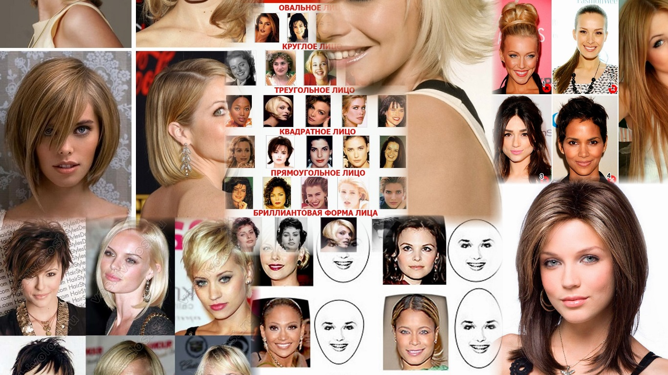 Какие прически идут женщинам с овальным лицом фото