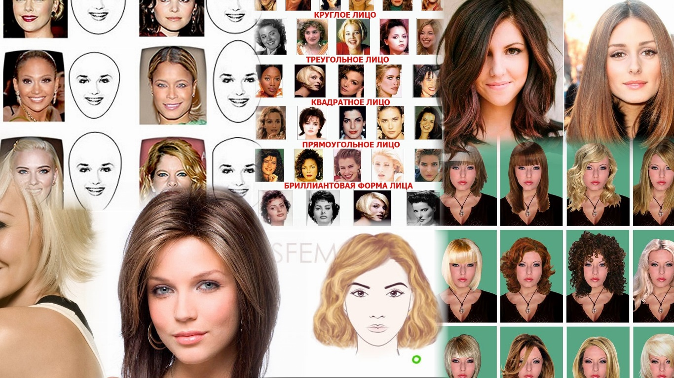 прически для треугольного лица фото до и после
