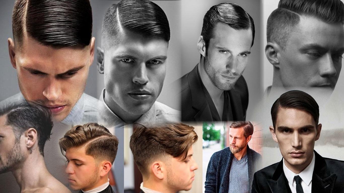 Мужские причёски на бок с пробором
