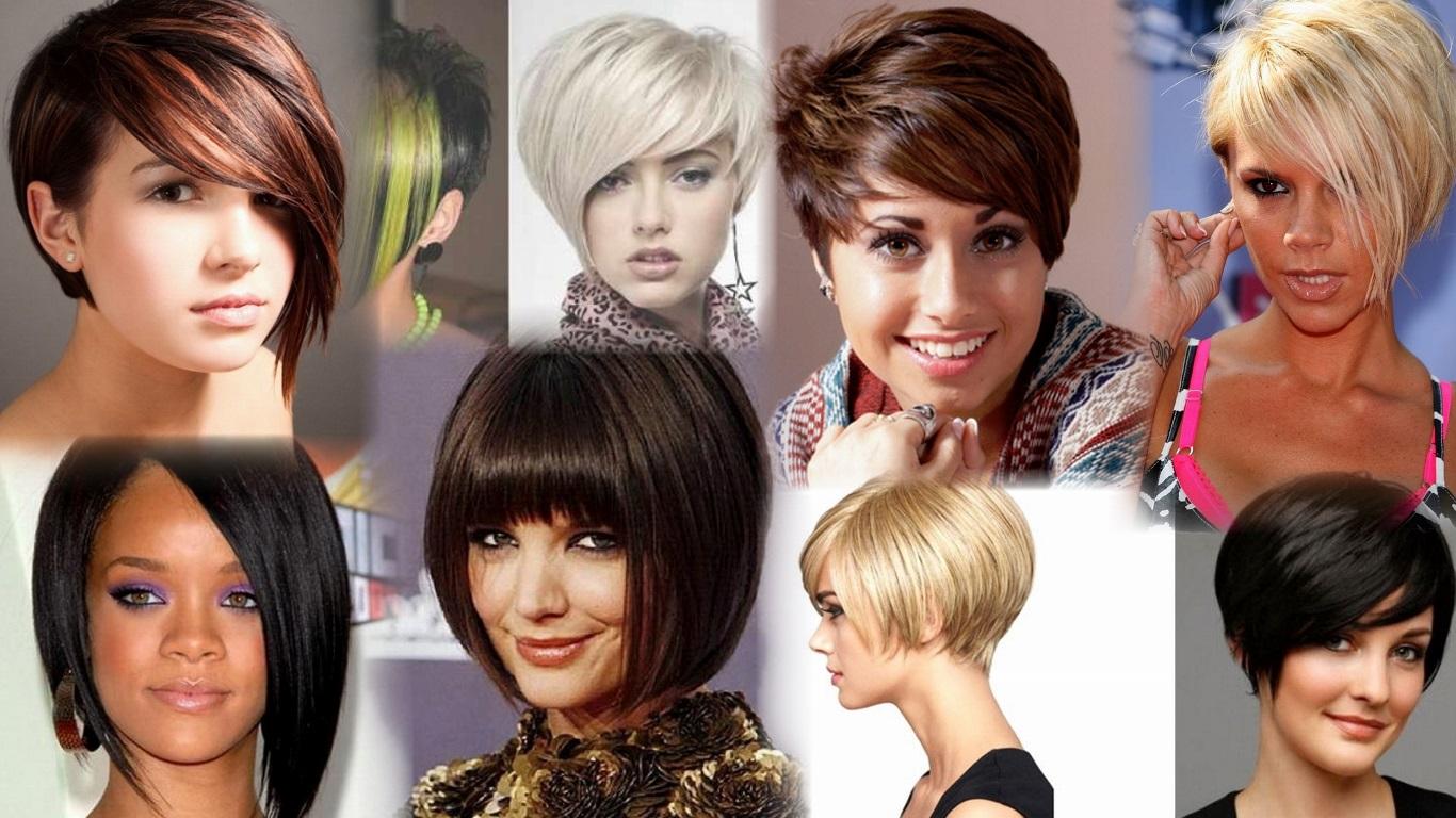 Стрижка симметрия на средние волосы женская