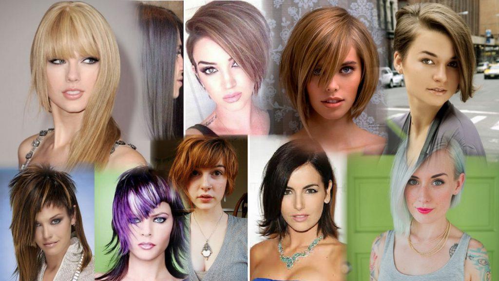 Асимметричная стрижка на средние волосы фото