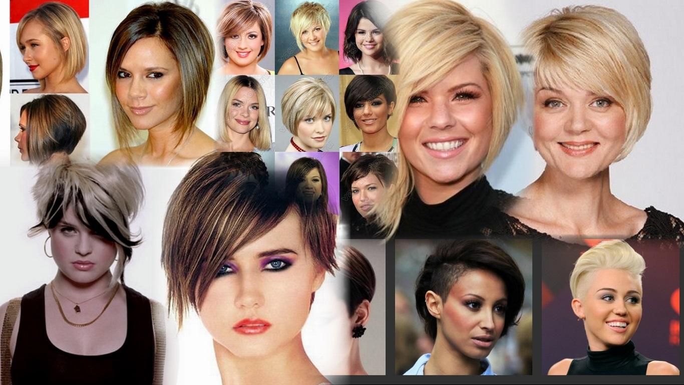 Ассиметричная стрижка для круглого лица на средние волосы