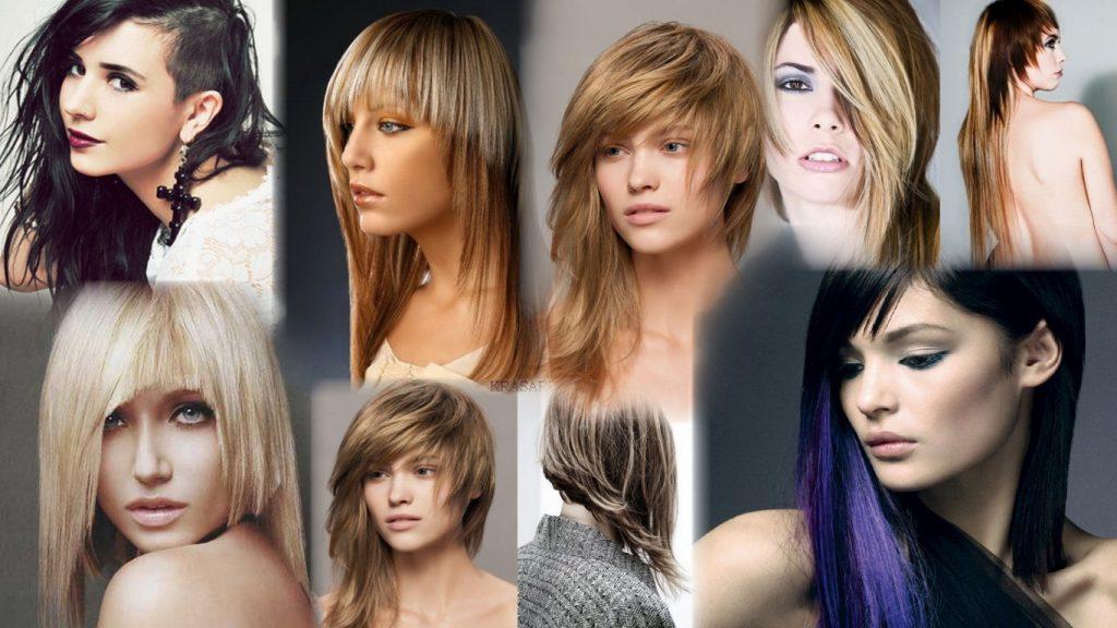 Ассиметричные стрижки на длинные волосы фото
