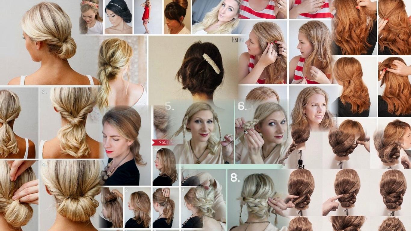 Причёски для средних волос в домашних условиях пошаговое фото 226