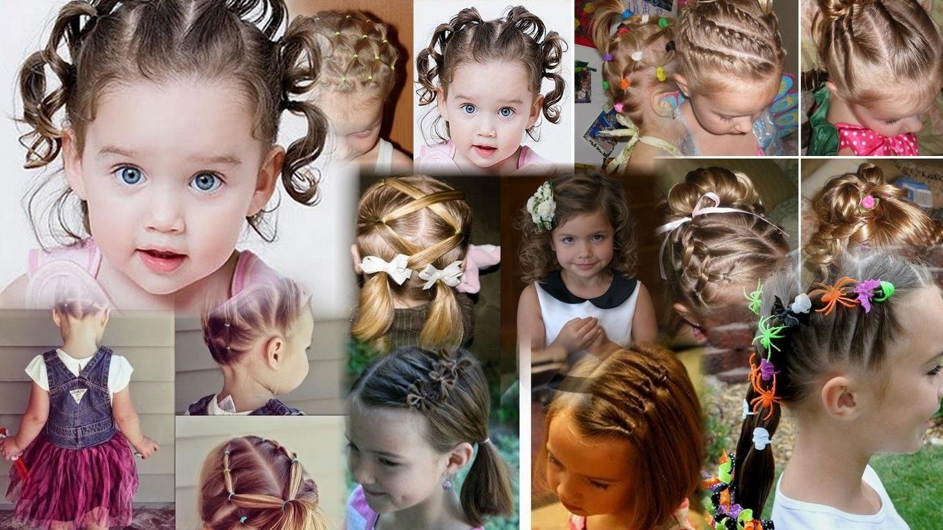 Как сделать прическу девочке с короткими волосами 529