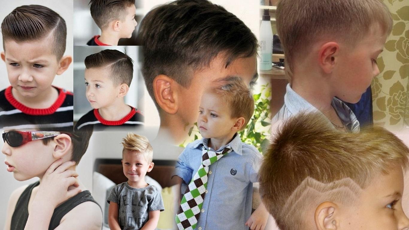 Модная детская прическа для мальчика фото
