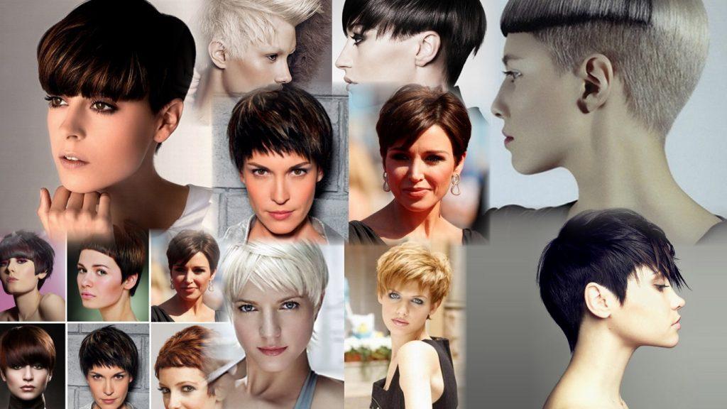 Женская стрижка гарсон на короткие волосы фото
