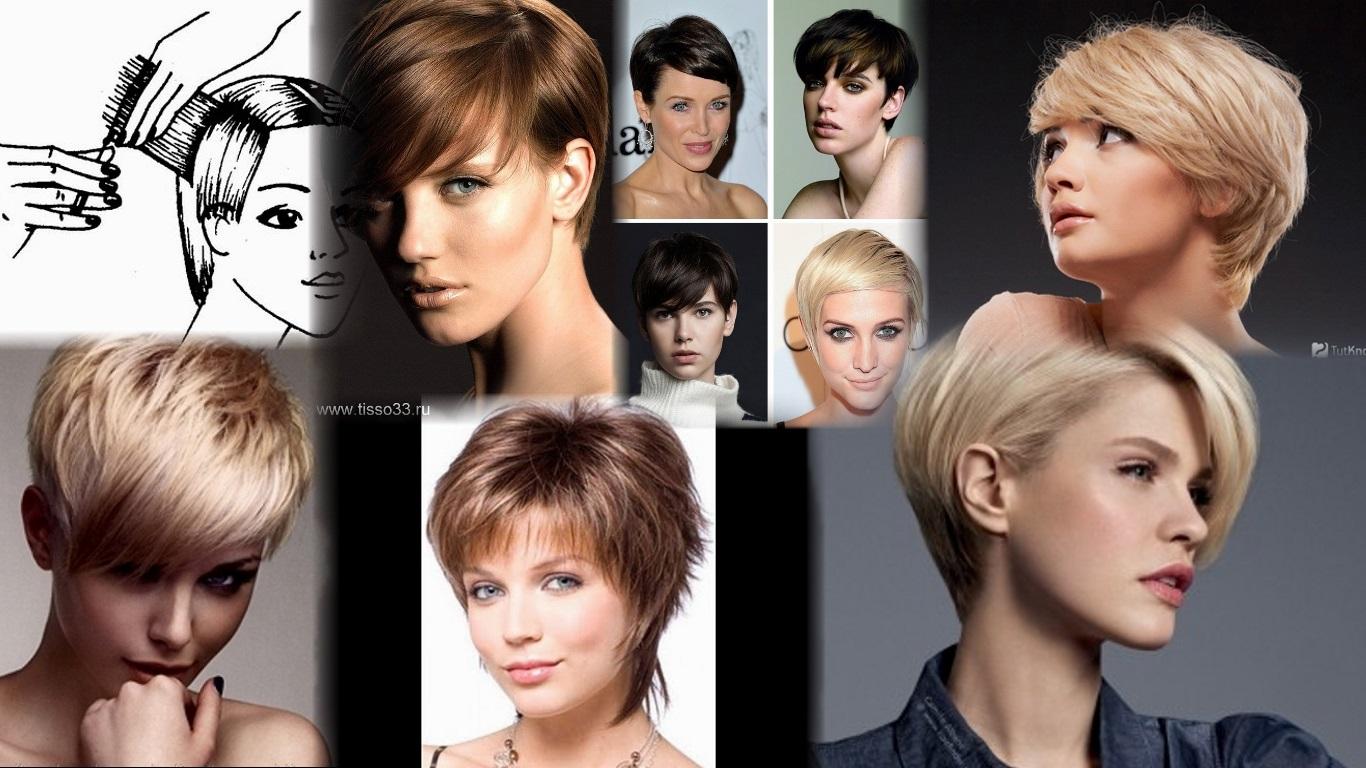 Смотреть прически женские короткие волосы