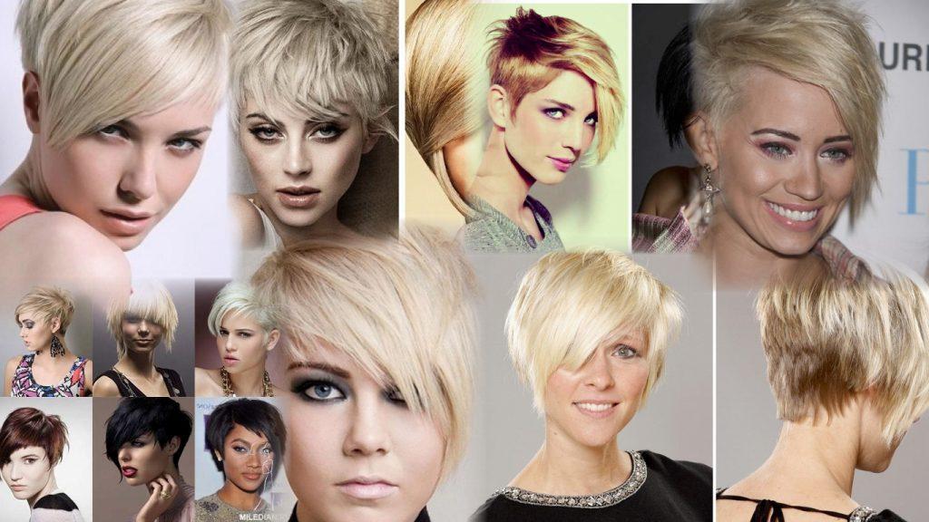 Короткие ассиметричные женские стрижки фото