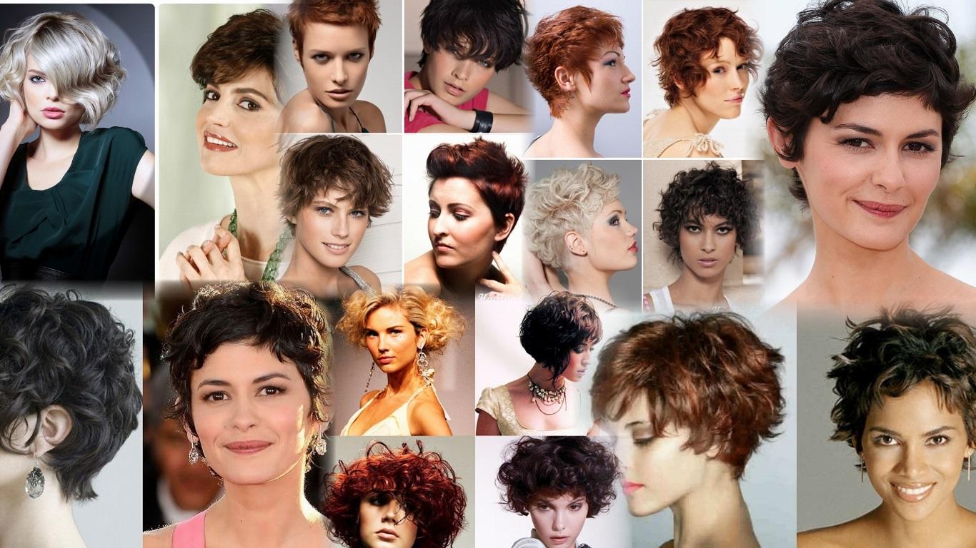 Фото короткие стрижки для вьющихся волос