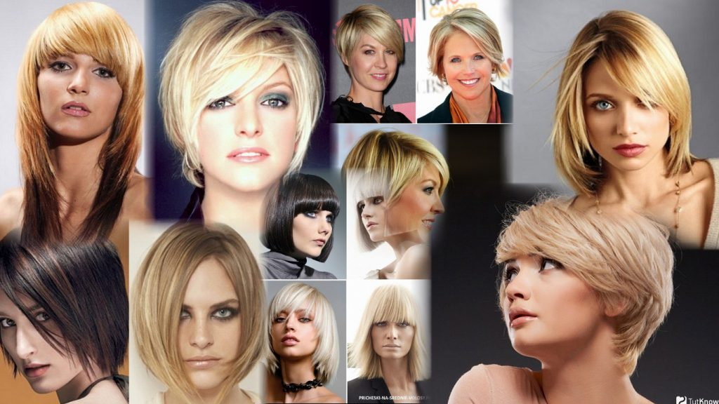 Короткие удлиненные стрижки женские фото