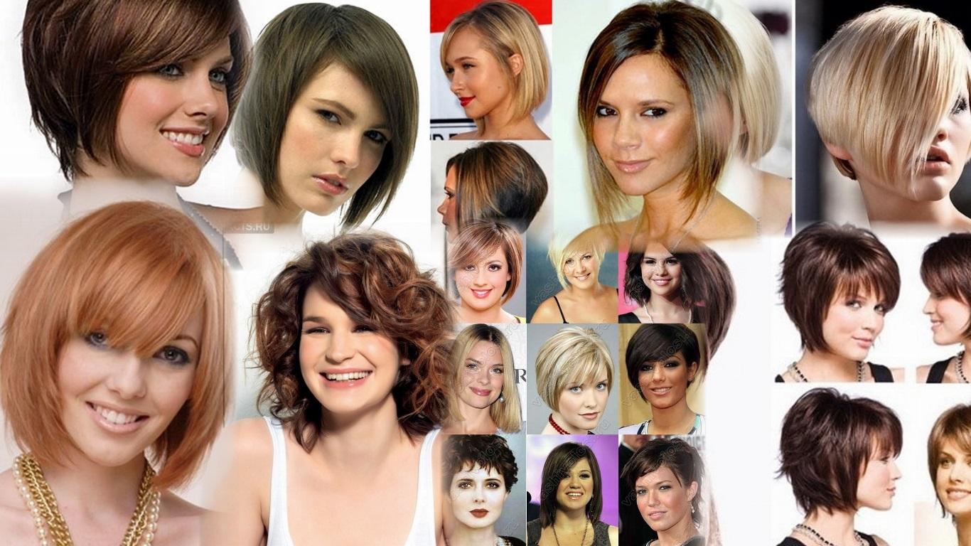 Причёски на средние волосы для полных девушек фото и