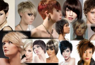 Креативные стрижки на короткие волосы фото женские